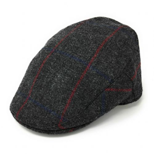 Christys Tweed Flat Cap - Balmoral - Charcoal Grey - Small. Reduced to clear